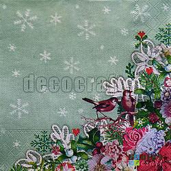 Servetele - Broderie de iarna - 33x33cm, 1 pachet (20 buc.)