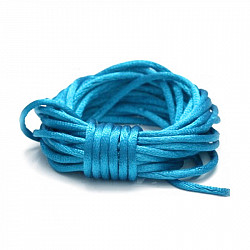 Snur satinat, 2mm - Albastru-deschis